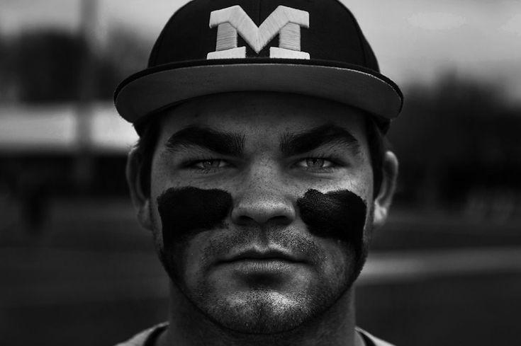 University of Michigan right fielder, Kyle Jusick by Senior Airman James Richardson