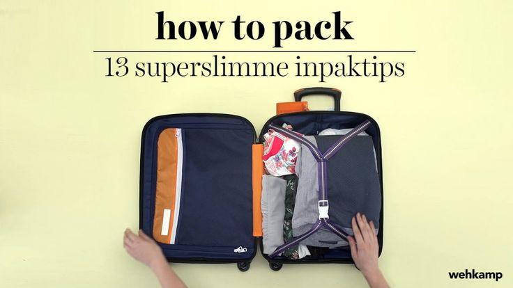 Koffer efficiënt inpakken