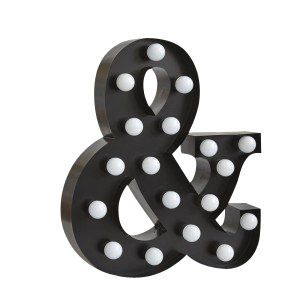 Marquee Light Ampersand In Gold