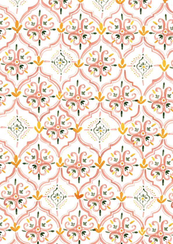 Moroccan pattern by Rosie Harbottle