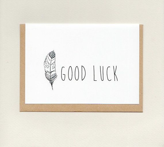 GOOD LUCK . greeting card . art card . boho by ThePaisleyFive