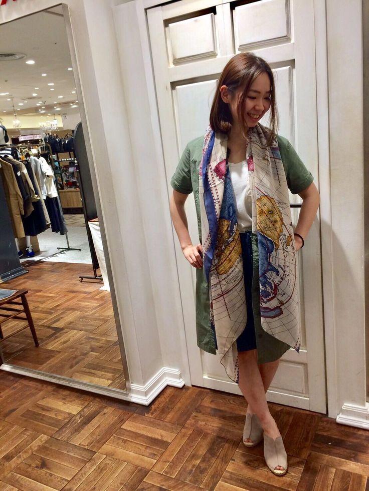 AVIREX Belle渋谷店/GREENシリーズ★ 着こなしによって全く違う見え方のするシャツワンピースはキレイめでも、カジュアルでも使えるのでオススメです!