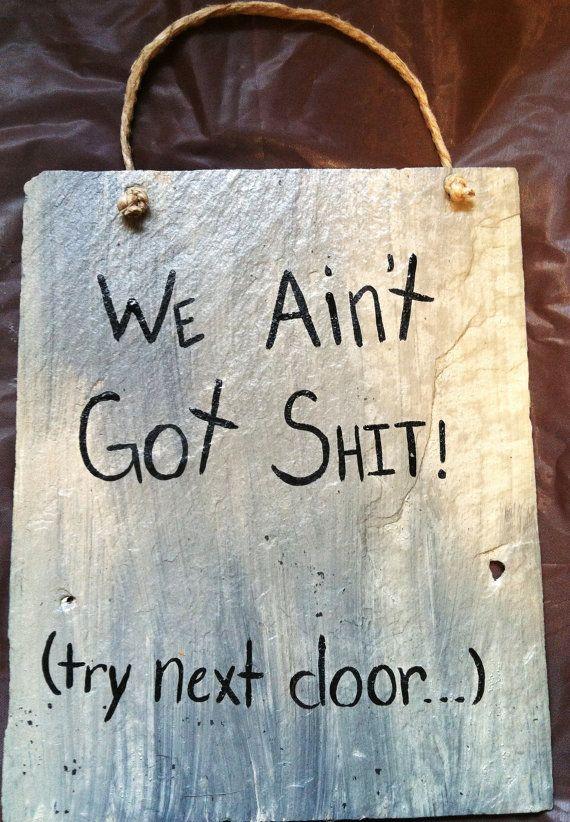 Funny Signs, Door Signs, Funny Door Signs, Try Next Door Sign, Home Decor, Porch Signs, Yard Signs
