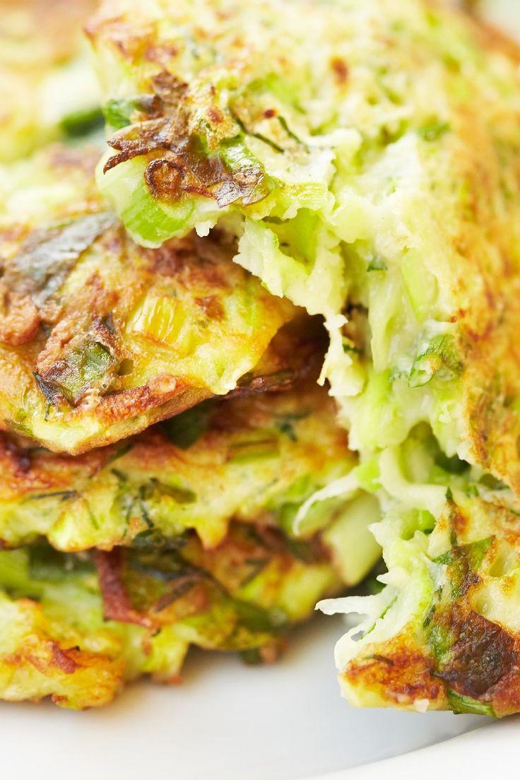 Crispy Zucchini and Potato Pancakes #Recipe