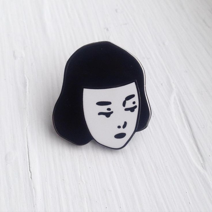 'girl' enamel pin.                                                       …