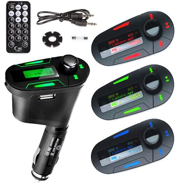 Car MP3 Player with perfect high-quality stereo Wireless FM Transmitter and USB SD MMC Slot 3.5mm audio jack