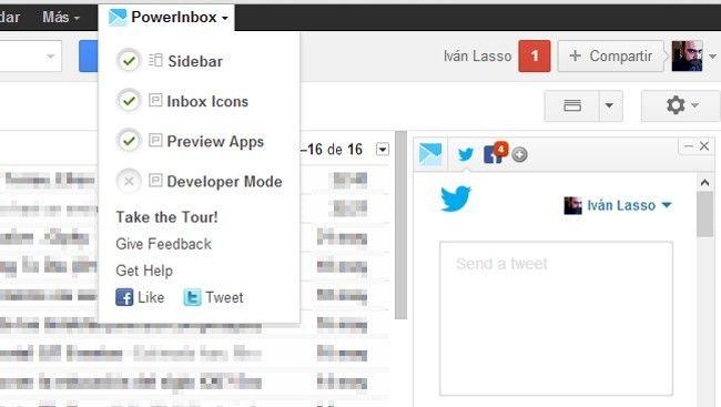 Integra en tu correo web las principales redes sociales con PowerInbox.