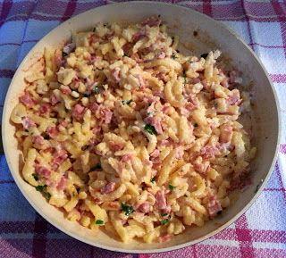 Špecle se slaninou a smetanou - Markétčina kuchařka