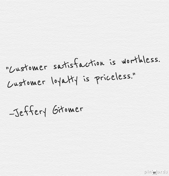 Inspirational Quotes On Customer Satisfaction: Loyalty Is Earned With Friendliness, Res By Jeffrey