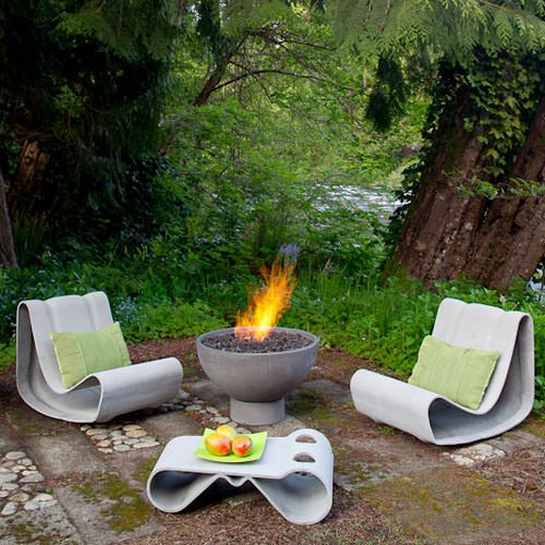 loop chair modern concrete outdoor chair