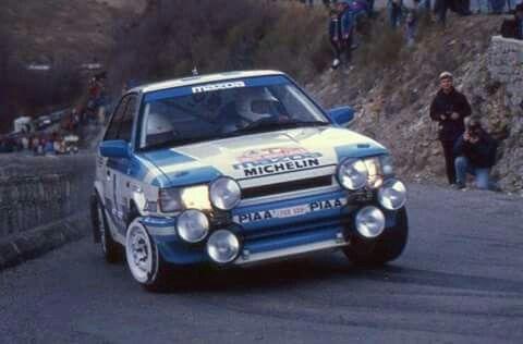Mazda 323 rally car