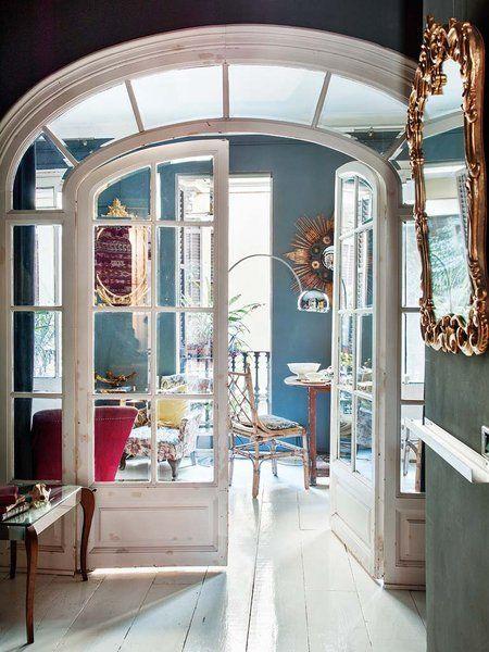 Un piso del XIX: puerta acristalada en arco original #frenchdoors