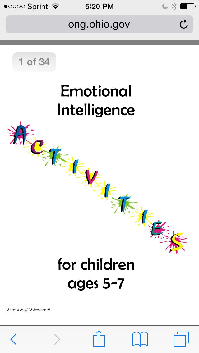 Emotional intelligence activities for 5-7 year olds