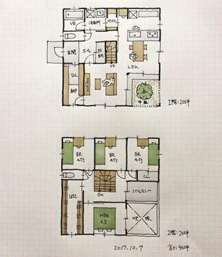 『40坪の間取り』 ・ 中庭のある間取りです。 ・ #間取り#間取り図#間取り集 #間取り力#間取り相談 #間取り図大好き #間取り萌え #間取りと妄想 #マイホーム計画#マイホーム計画三重 #マイホーム計画開始 #三重県#三重の家 #三重の住宅 #三重の建築家 #三重の間取り #三重の設計事務所#設計事務所とつくる家#建築家とつくる家#40坪の間取り#中庭のある間取り#シューズクローゼット間取り