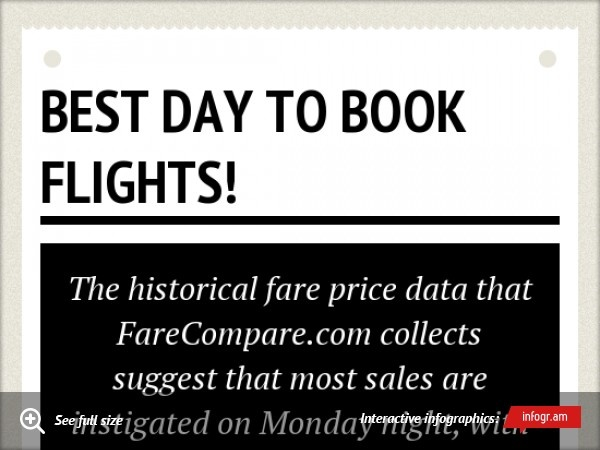 I've always wondered what the best day of the week is to book a flight! Check it out!  Booking