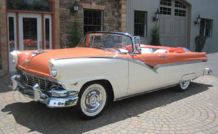 Hallie and I are looking forward to driving one of these gorgeous cars at our wedding. 1956 Ford Fairlane Sunliner Convertible