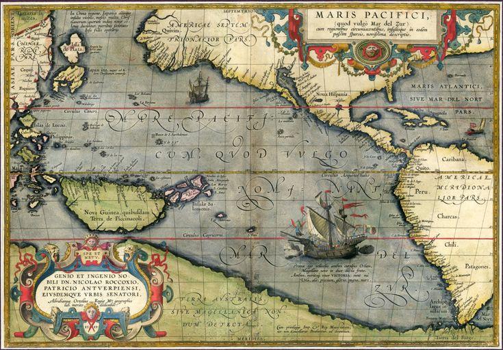 Ortelius pacifici 1589 vecchio mondo mappe mappe di mapsandposters