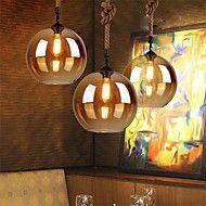 Loft+American+Rope+Retro+Lighting+Bar+Restaurant+Lights+Personality+Living+Room+Clothing+Store+Glass+Pendant+Light+20cm+–+EUR+€+76.43