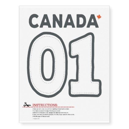 Temporary Tattoos Trudeau Canada First number 01 - home gifts ideas decor special unique custom individual customized individualized