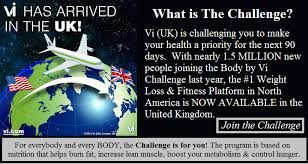 "The Visalus 90 Day Challenge Guarantee is available if you are a Visalus Customer OR Promoter who: Purchases a Challenge Kit and uses products as directed for 90 days ""Go Public"" with your Challenge goal at Challenge.com If you are not satisfied with your Challenge results after completing the above, money back! www.southerngal.bodybyvi.com"