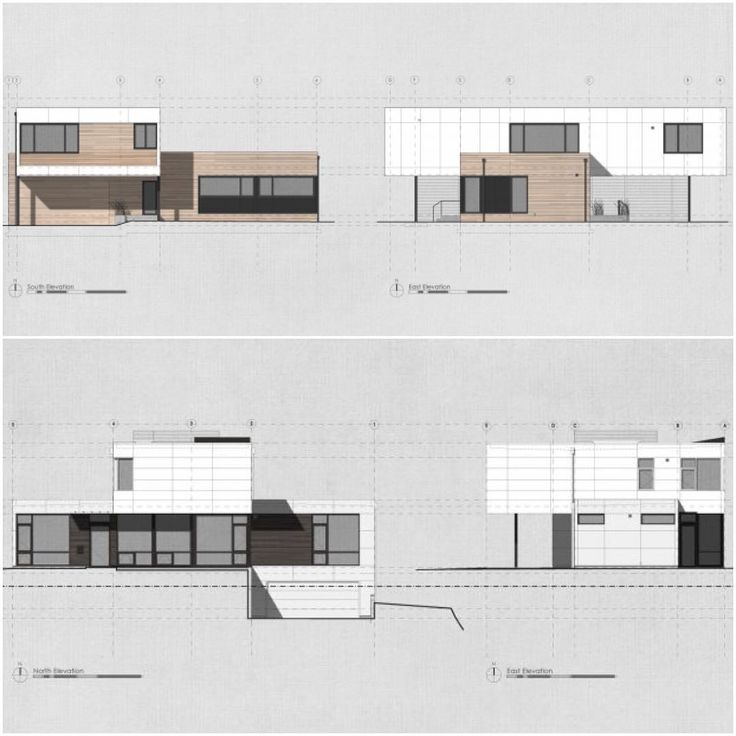 Fine Architecture Design Elevation Shadow Studies For A Couple Of Single Family Inside
