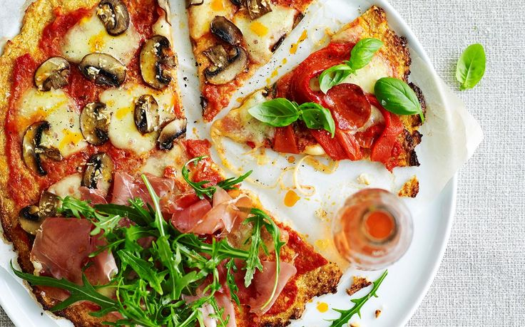 Cauliflower pizza recipe - By Australian Women's Weekly, Sink your teeth into this deliciously wholesome, healthier cauliflower pizza - loaded with fresh tasty ingredients and mouthwatering flavour!