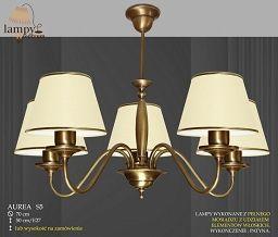 Lampa żyradnol 5 płomienny Aurea S5 różne abażury ICARO