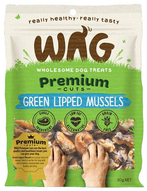 Buy Wag Grain Free Green Lipped Mussels Dog Treats 1 76 Oz Bag At
