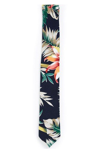 Topman Floral Print Tie available at #Nordstrom