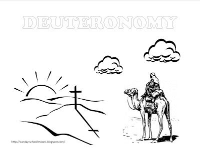 (FREE) Book of Deuteronomy Sunday School Coloring Page