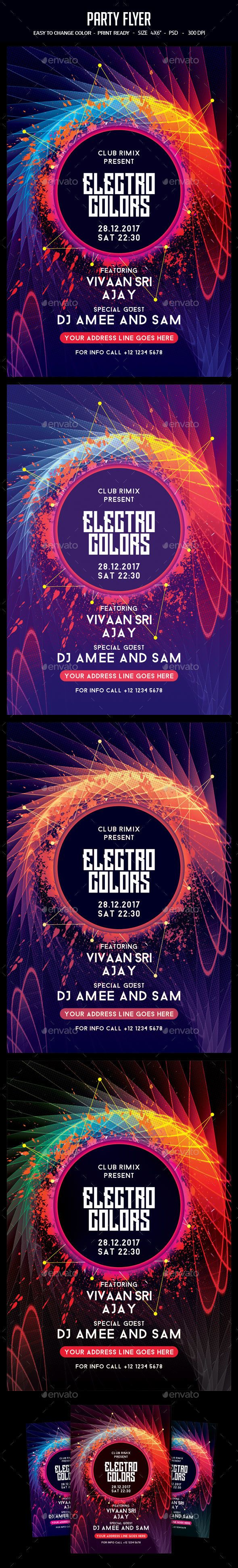 Party Flyer Template PSD