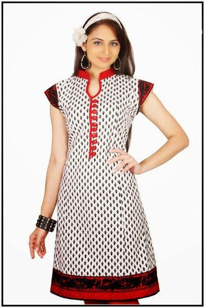 printed fabric kurti