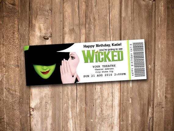 Wicked the Musical Souvenir Theater Tickets