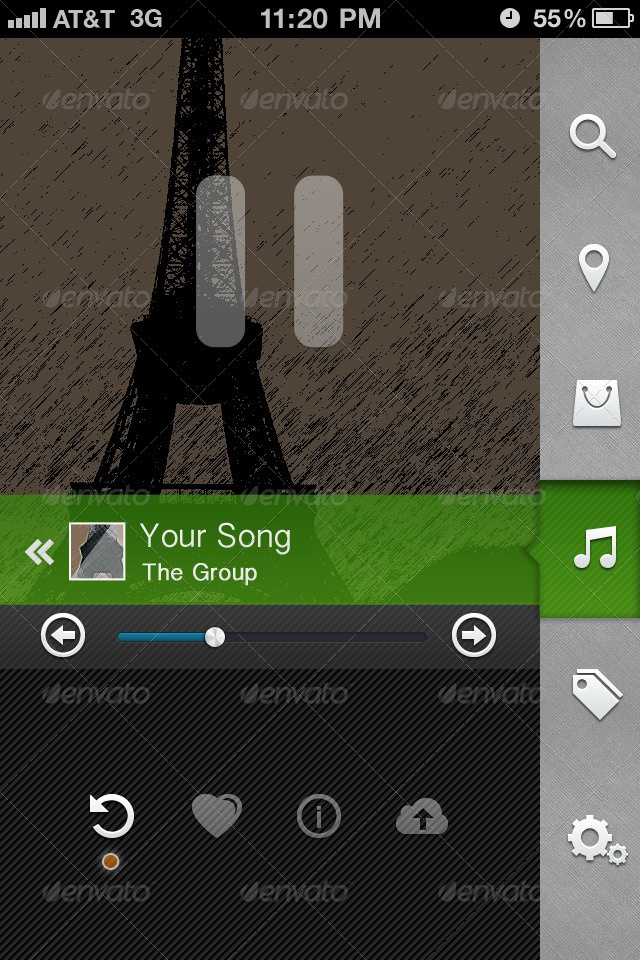 Phone UI Nightlife Edition - GraphicRiver Previewer