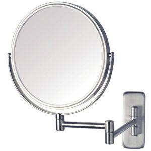 Wall Mounted Makeup Mirror Brushed Nickel