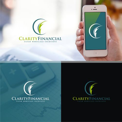 Clarity Financial - Logo with image of house or a stock chart or that incorporates the letters 'C' and 'F'