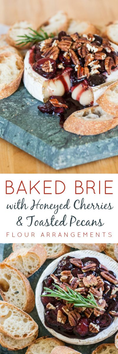 A honeyed cherry topping and toasted pecans give simple elegance to this baked brie appetizer.