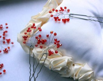 Novia pelo pasadores horquillas novia boda juego de por EnzeBridal