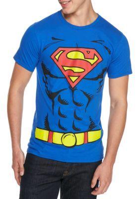 Freeze Men's Superman Suit T Shirt - Royal - 2Xl