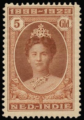 """Netherlands Indies - N° 160/66 """"1923 Jubileum"""", luxe postfris (NVPH Euro 500)    Dealer  Van Looy Stamp Auctions    Auction  Minimum Bid:  130.00 EUR"""