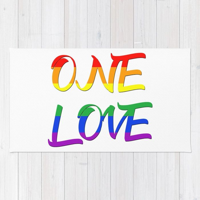 Buy One Love Rug by scardesign.    #typographic #onelove #art #design  #lgbt #pride #couples #popular #valentine #romance #pop #rainbowflag #rainbow #flag #colorful #life #love #loveislove #gay #lesbian #trans #home #homedecor #pride #festiival #pride #cool #awesome #valentinesdaygifts #valnetinesday #family #onlineshopping #giftsforhim #giftsforher #rug #style #livingroom #bedroom #39 #gaypride #lesbianpower #feminist #march #gayhome #homegifts #gaydads #lesbianmoms #arearug #shopping