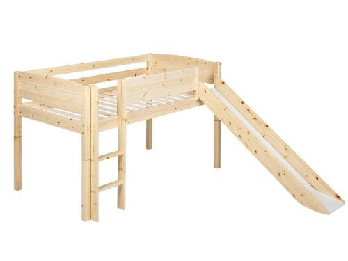 low loft bed with slide 3