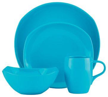Dansk Classic Fjord 4-Piece Sky Blue Place Setting contemporary dinnerware sets