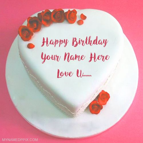 Write Name Lover Birthday Cake Love U Wishes Pics Heart Look