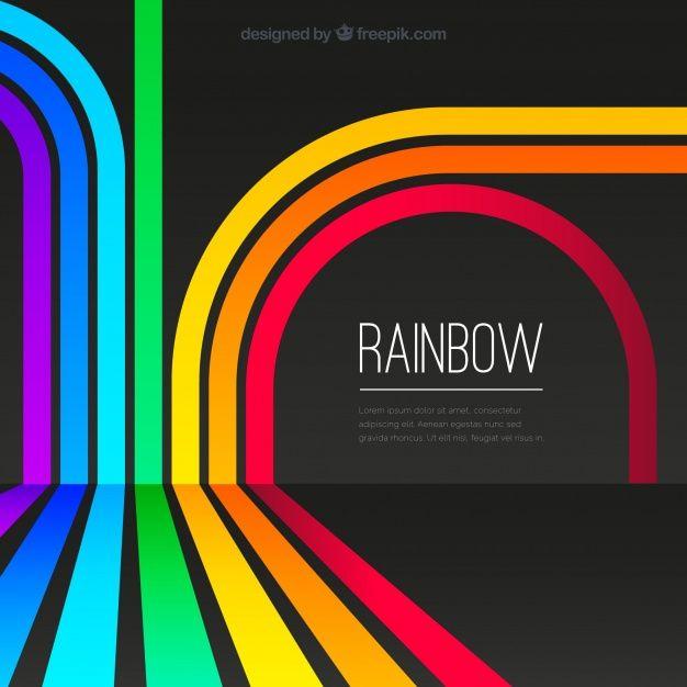 Colorful Rainbow Background Premium Vector Freepik