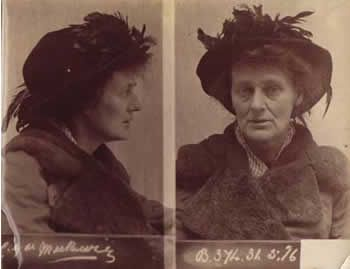 Woman arrested for involvement in Easter Rising.