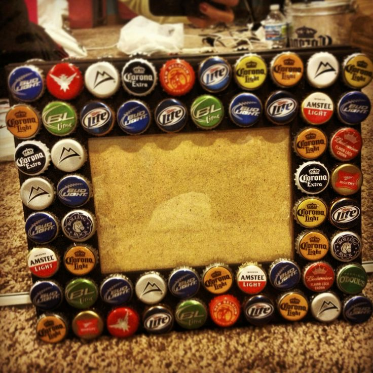 bottle cap frame crafts by miss sanders pinterest
