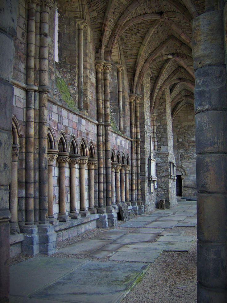 Inside Holyrood Abbey