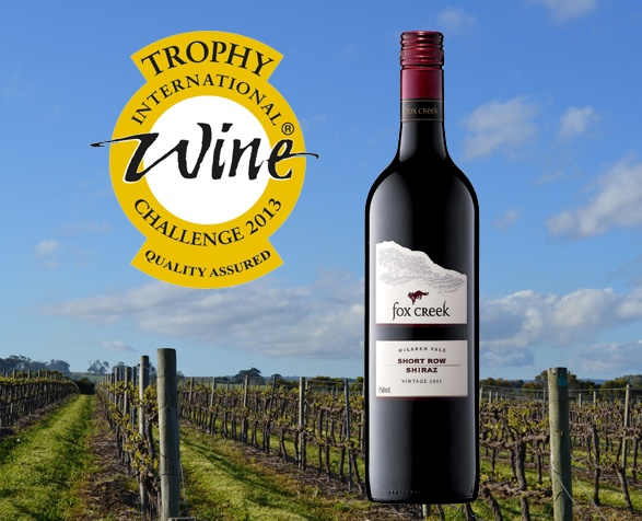 2011 SHORT ROW SHIRAZ | Winner of  TWO international trophies, most recently the McLaren Vale Shiraz Trophy at the 2013 International Wine Challenge.