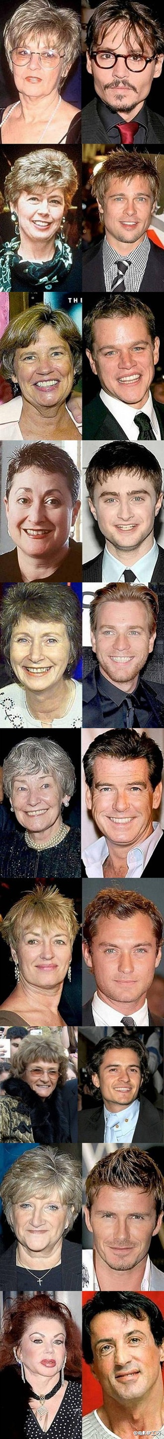 Hollywood actors & their moms